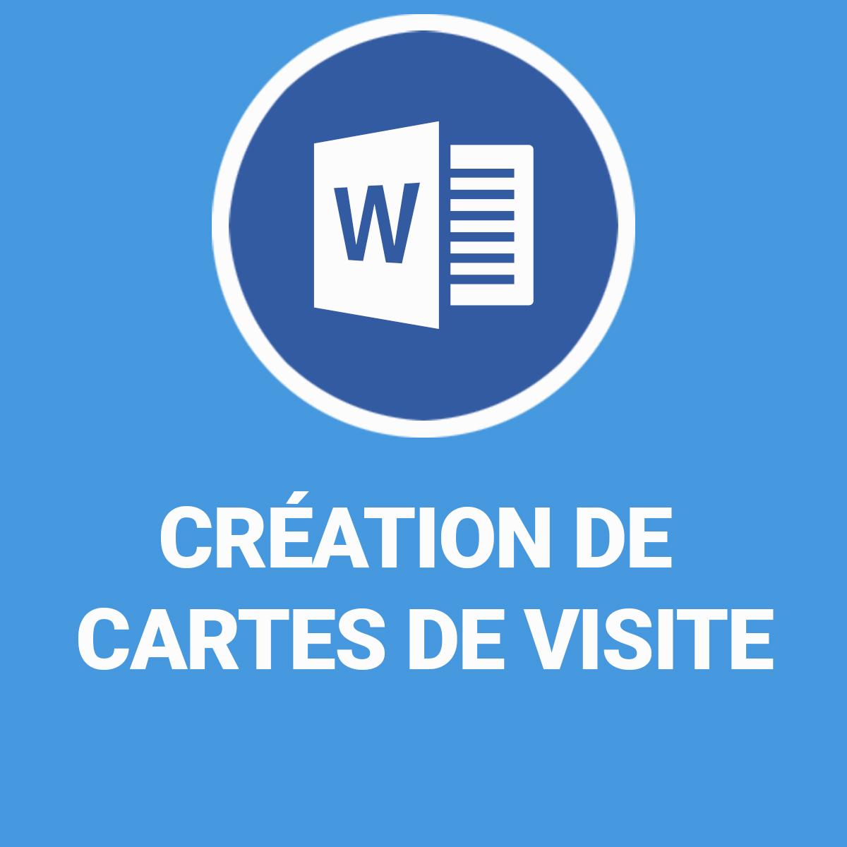 Cration De Cartes Visite Sur Word 2007